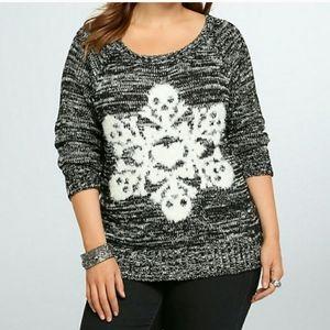 Torrid SKULL snowflake sweater